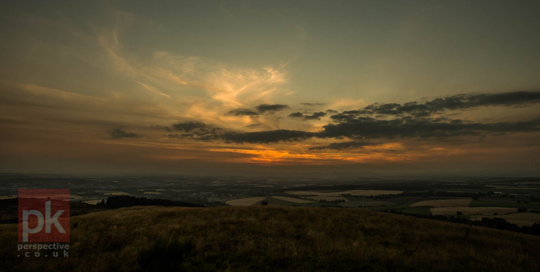 The sun setting over Scone - was a bit of a climb but worth it!