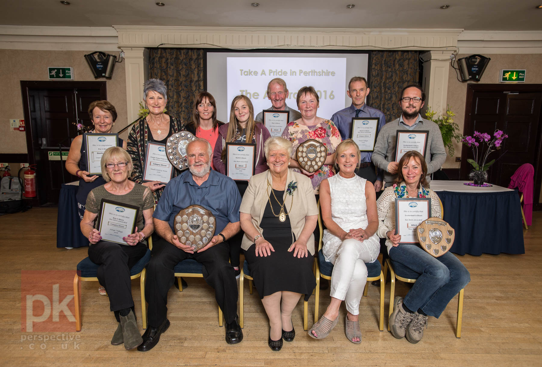 Take a Pride in Perth Award ceremony took place at the Salutation Hotel in Perth.