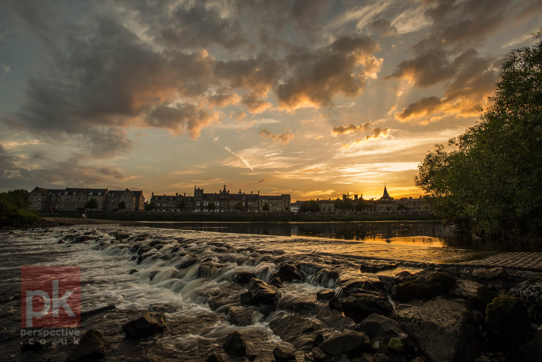 The sun setting on the River Tay - there was some really stunning sunsets over the course of 2016