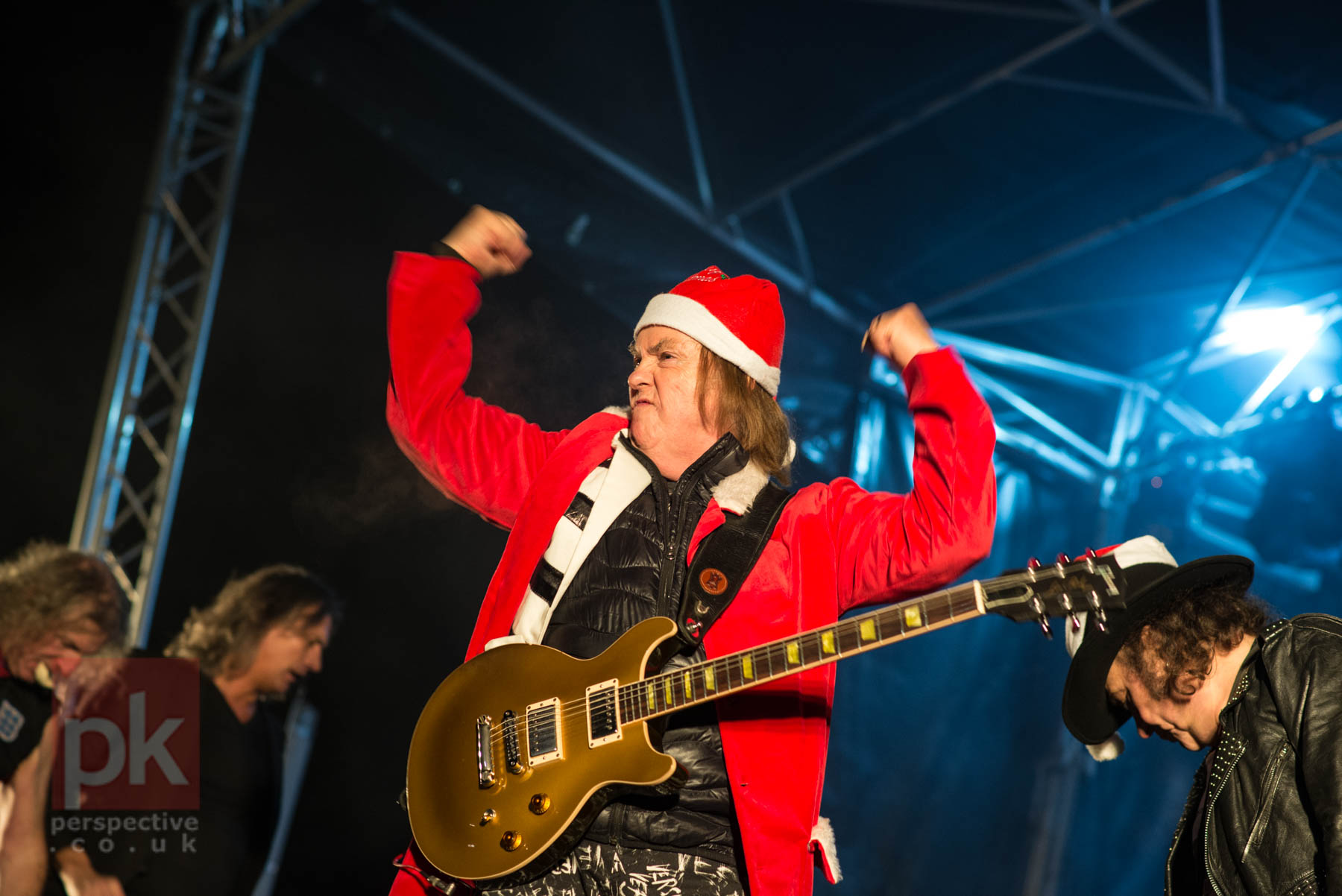 The might SLADE getting everyone in Perth into the Christmas spirit at the official Light Switch On event.
