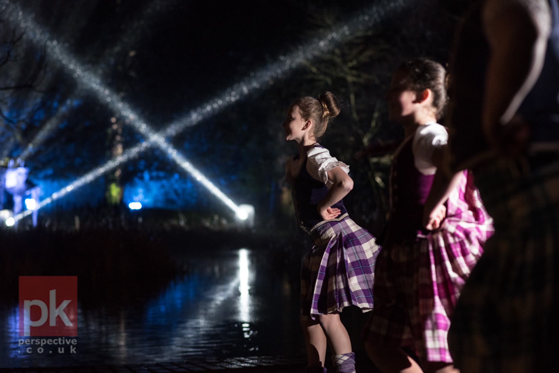 The highland dancers did a great job despite the less than favourable weather