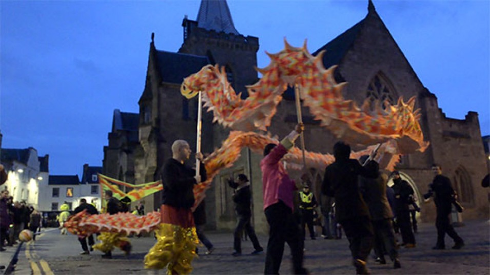 chinese new year in perth, scotland